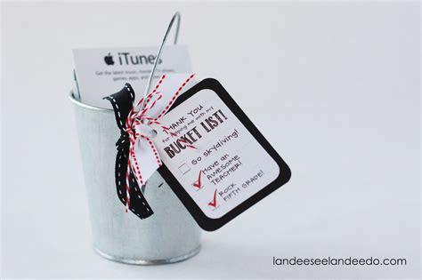 List Of Gift Cards Sold At Target - teacher gift idea bucket list landeelu com