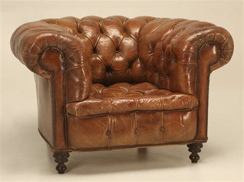 Antique Chesterfield Sofa For Sale Antique Chesterfield Chair In Original Leather For Sale Plank