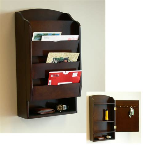home organizers wall mounted mail organizer a best storing solution for