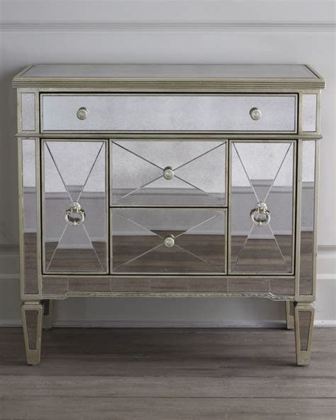 Amelie Mirrored Nightstand amelie small mirrored chest accent chests and cabinets by horchow