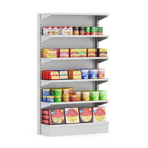 Shelf Study Of Food Products by Market Shelf Instant Foods 3d Model Cgtrader