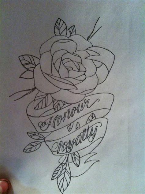 rose and banner tattoos banner outline by seanspringer on deviantart