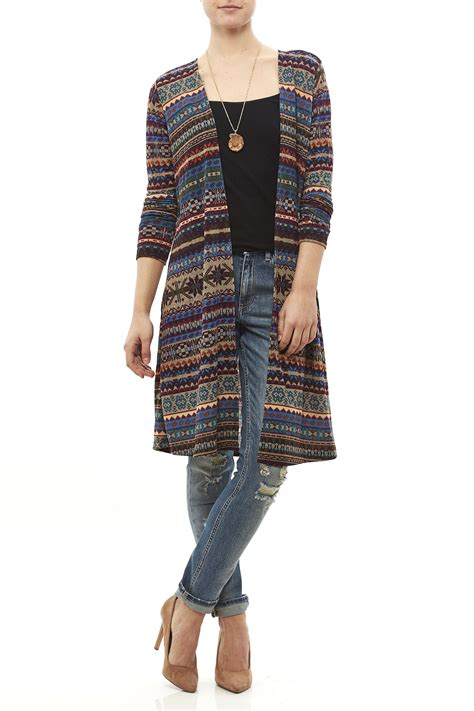 multi color cardigan zouk multi colored cardigan from alabama by southern
