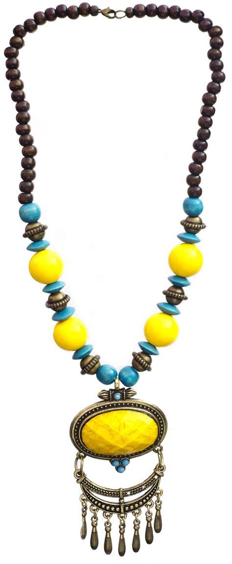 yellow beaded necklace yellow beaded necklace