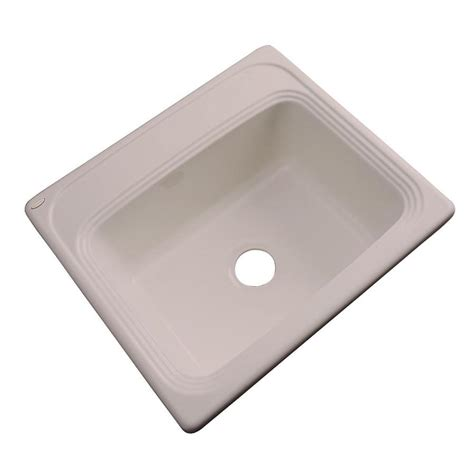 Acrylic Kitchen Sink Shop Dekor Master Single Basin Drop In Acrylic Kitchen Sink At Lowes