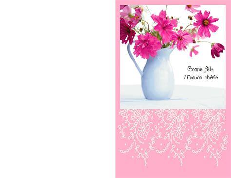 Carte De Fetes Gratuites by Mod 232 Les Cartes Vœux Sp 233 Ciales F 234 Te Des M 232 Res 224 Imprimer