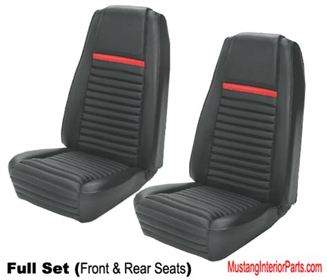 1969 mustang mach 1 seat covers sportsroof front rear