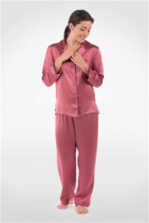 womens silk pajamas morning dew classic luxury pjs gift silk pajamas for women pure silk long sleeve pj set