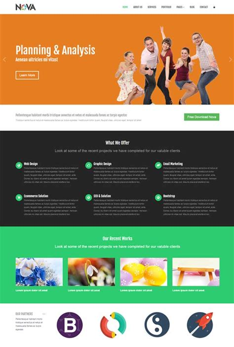 bootstrap templates for java 30 bootstrap website templates free download jewel theme