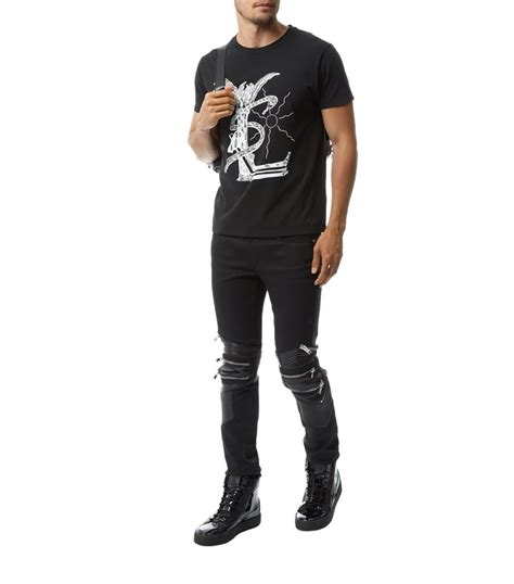 ysl malibu laurent ysl malibu t shirt in black for lyst