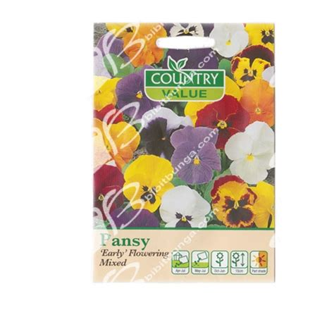 Benih Terong Viola benih pansy early flowering mixed 40 biji country value