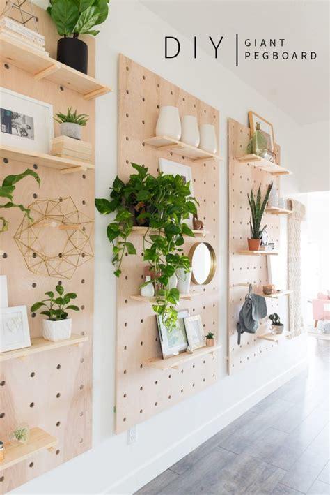 diy large wall pegboard diy diy shelving shelving ideas and