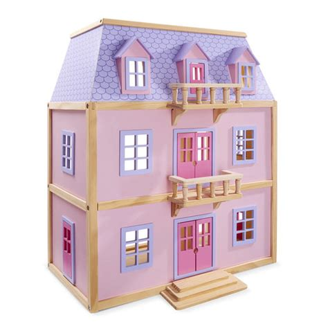 melissa and doug doll house multi level solid wood dollhouse melissa doug