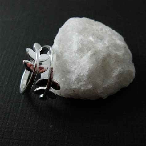 925 Sterling Silver Leaf Ring 925 sterling silver leaf ring leaves branch ring tree