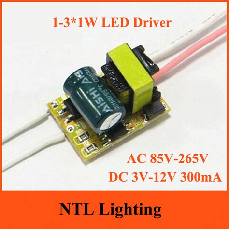 Promo Led Driver 2 3 2 3 W 300 Ma Casing Plastik For Panel Led 2 Warn freeship 1 3 1w none dimmable led driver 1w 2w 3w l transformer 300ma bulb bulbs constant