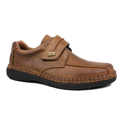 brown rieker alfred mens velcro fastening shoe 12951 25