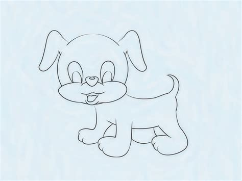 ways  draw  cute puppy wikihow