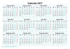 printable calendar year 2017 yearly calendar 2017 printable yearly calendar printable