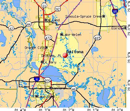 where is deltona florida on the map deltona florida fl profile population maps real