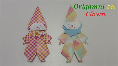 Origami Clown - origami zo clown