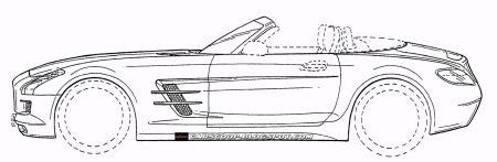 onthuld: mercedes sls amg roadster (als tekening