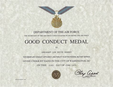 army conduct medal certificate template 17 conduct certificate template i 4 for