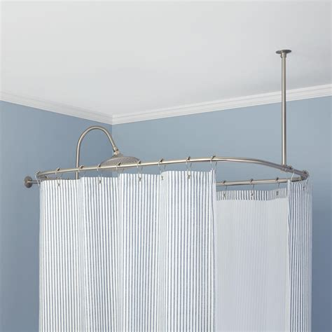 bathroom shower rods sandstone shower curtain tension rod and hook set oil