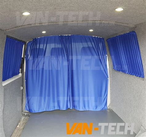 van window curtains vw t4 van transporter interior cab divider curtain van tech