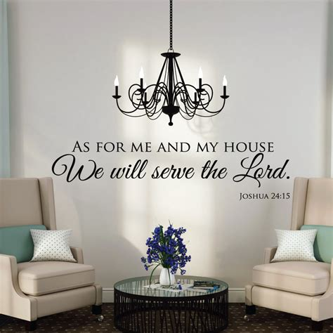 home wall decor stickers as for me and my house wall decals quotes christian wall