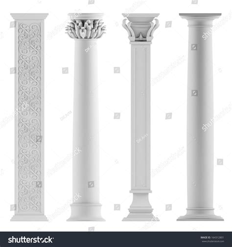 modern columns modern style architectural classic columns stock