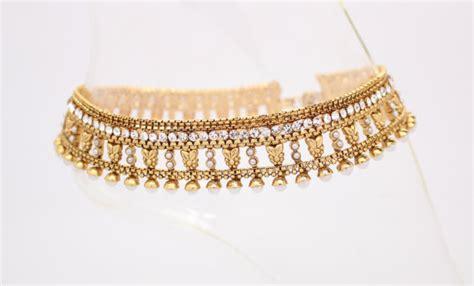 Handmade Payal - handmade heavy gold authentic polki pearl indian