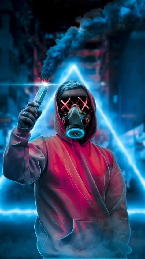 face mask smoke bomb iphone wallpaper cool wallpapers