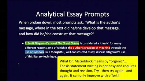 Exle Of Analytical Essay by Essay Thesis Statement Exles