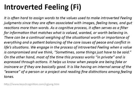 testo feeling introverted feeling fi psychology mbti