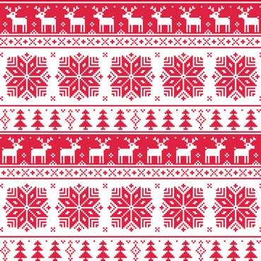nordic pattern ai vector nordic christmas pattern free vector download
