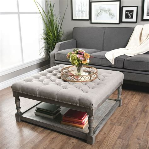 cushion ottoman coffee table this beautiful creston square ottoman features comfortable