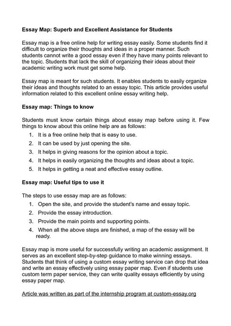 Superb Essay calam 233 o essay map superb and excellent assistance for students
