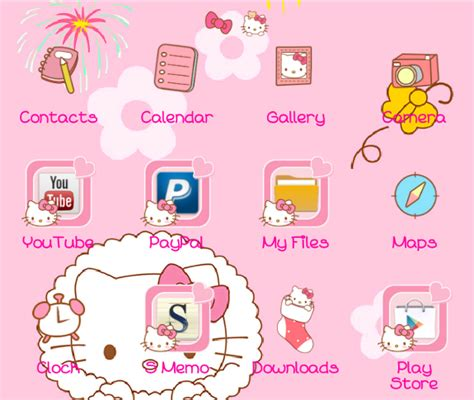 kitty themes for winter hello kitty winter go launcher theme android themes