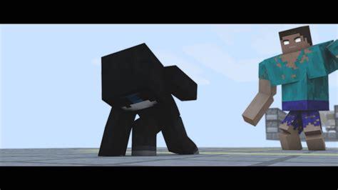 imagenes en movimiento de minecraft corto animado minecraft bersgamer vs mutant herobrine