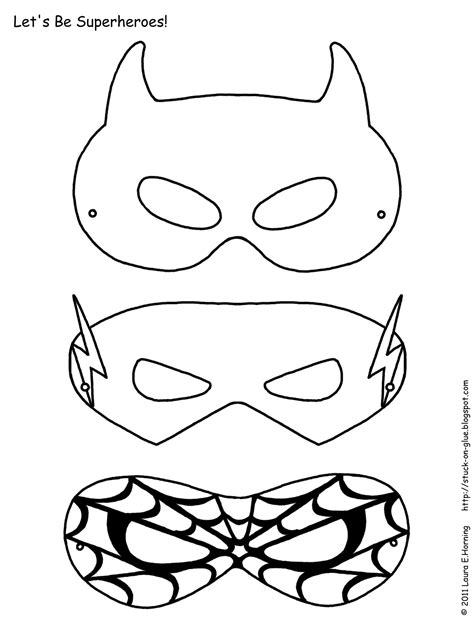 free masks to draw coloring pages
