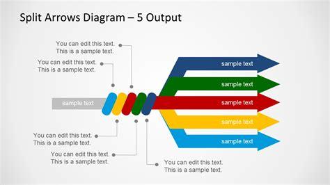 Split Arrows Diagram Template For Powerpoint Slidemodel Arrows Powerpoint Templates