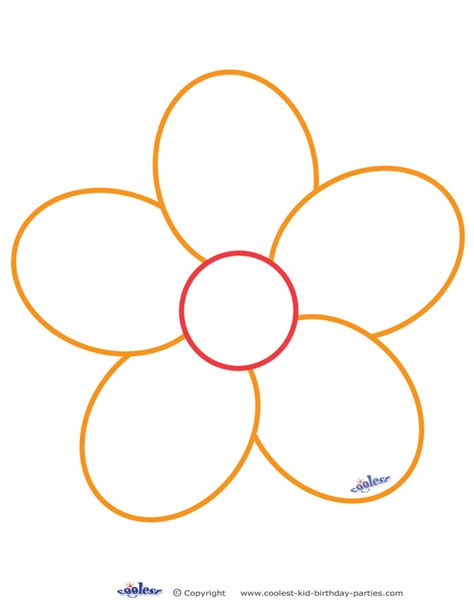 free flower templates to print free printable flower stencil templates clipart best