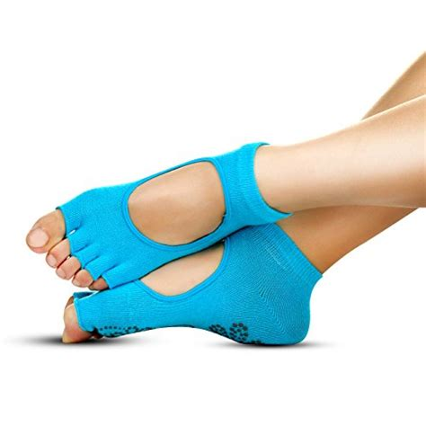 Socks Kaos Kaki Pilates Non Slip Grip Health socks non slip non skid slip resistant toeless grip sock for doing and