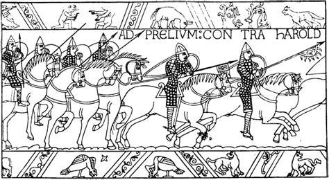 The Chronicle Of The Norman Conquest By Master Wace Bayeux Tapestry Colouring Pages