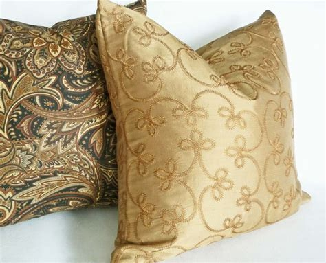 Gold Pillows Decorative by Gold Silk Pillow Traditional Decorative Pillows