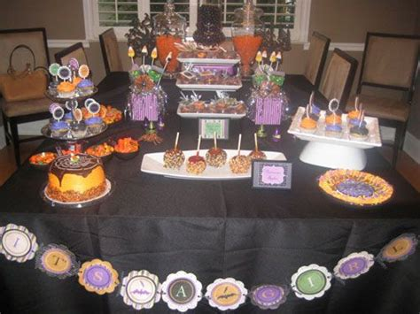 halloween themed desserts halloween themed baby shower dessert table jamies shower