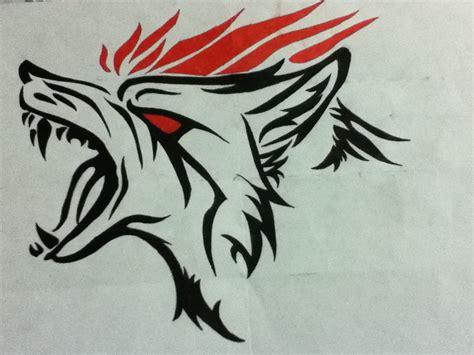 angry tribal wolf drawing phantomofthenite 169 2018 sep