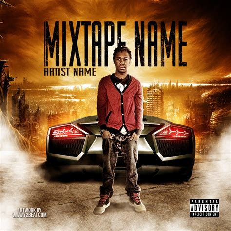 mixtape design templates burning city psd y2beat store