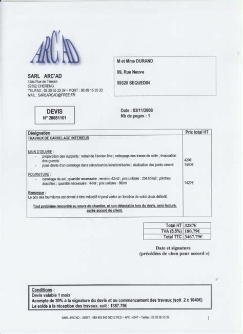 Exemple Facture Travaux Batiment  Logiciel De Devis Btiment