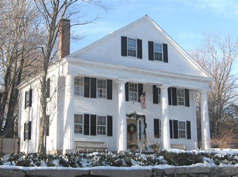 greek revival houses the greek revival in small town new england
